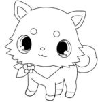 Jewelpet coloring and drawing sheet
