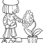 Jojos Circus Gardening Coloring Page