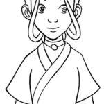 Katara Avatar Coloring Picture for Kids