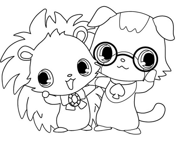 Labra jewelpet coloring picture