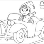 Noddy and the new taxi episode coloring sheet