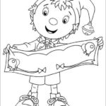 Noddy clothing colorings sheet online