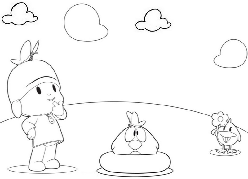 Pocoyo coloring sheets for preschool