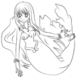 Rina Toin in Mermaid Melody Coloring Sheet