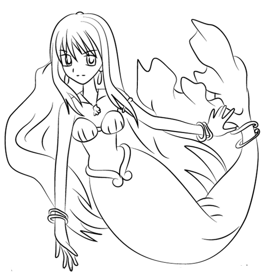 Rina Toin in Mermaid Melody Coloring