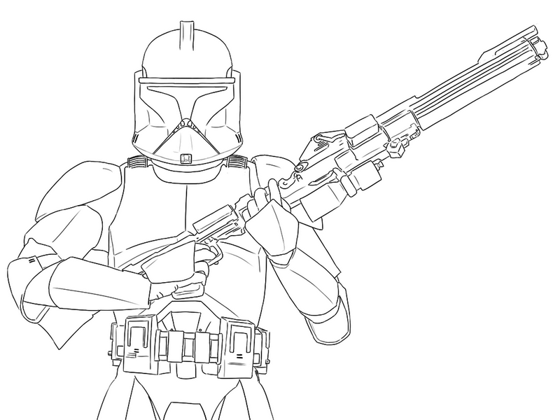 Star Wars Clone Trooper Phase 1 Coloring Page