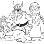 Vicky the Viking Family Coloring Page