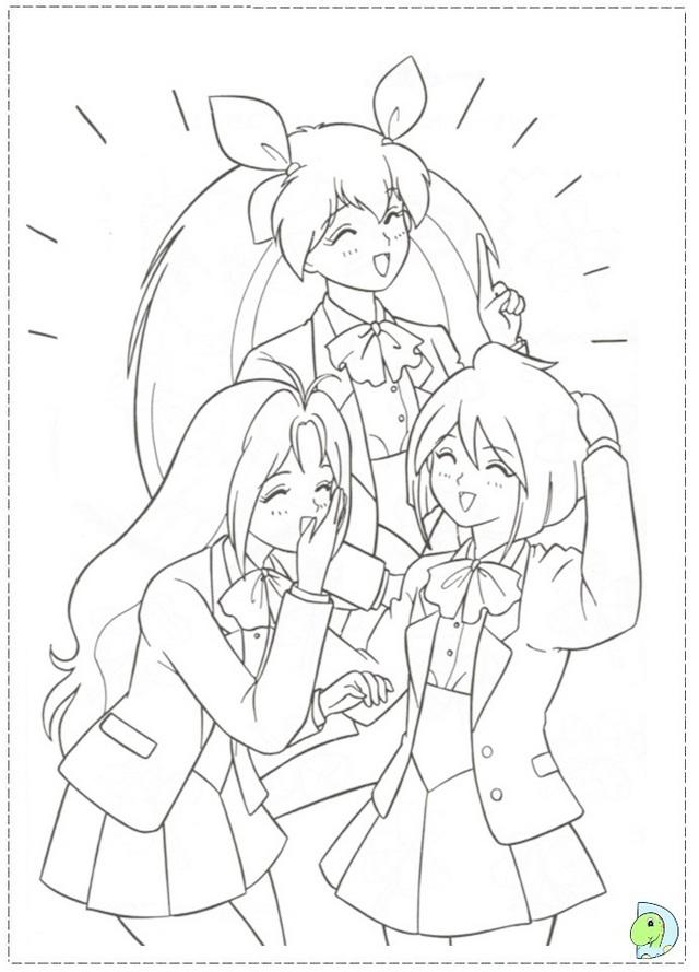 Wedding Peach Momoko and Yosuke coloring sheet