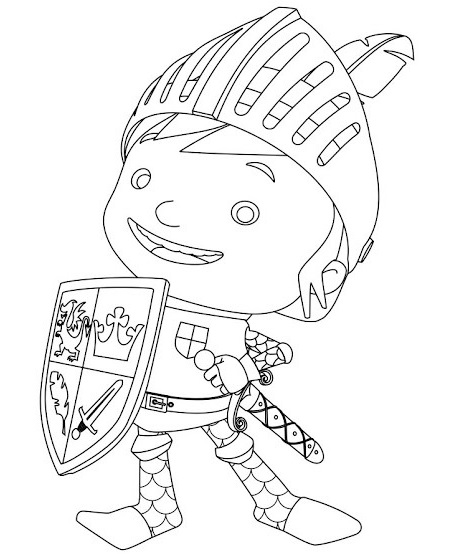 best mike the knight coloring sheet