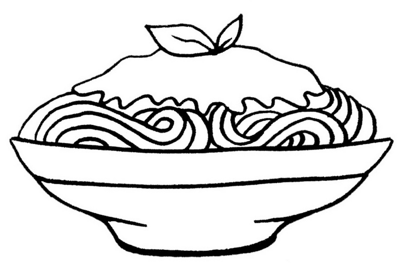 best spaghetti with delicious suace coloring pages