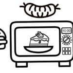 charming microwave cooking a cake coloring page for your kids