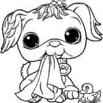 cute and sweet littlest pet shop coloring pages