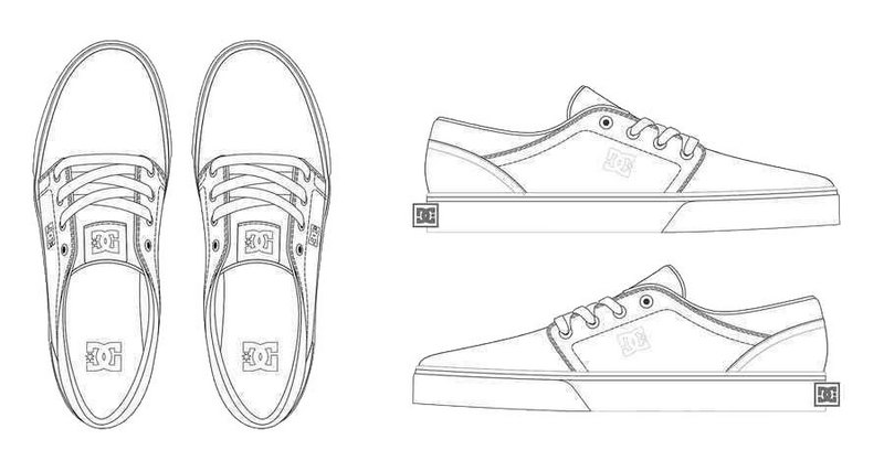 dc shoes design coloring sheet