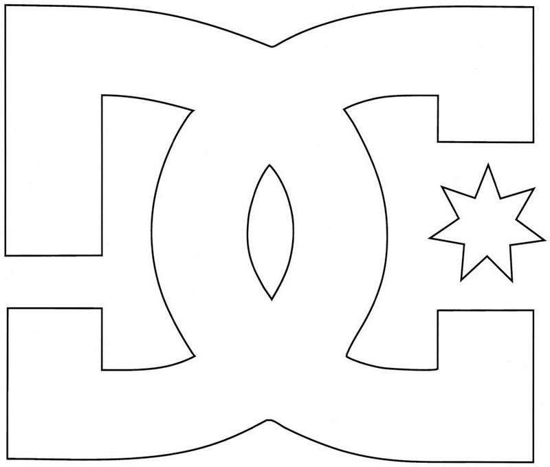 dc shoes logo coloring page