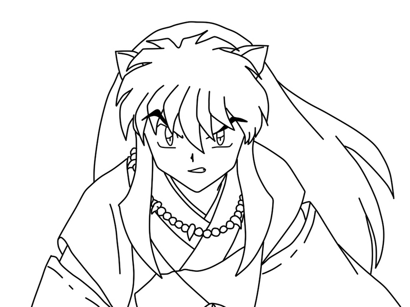 epic inuyasha coloring pictures
