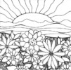 Add a Touch of Color in these 6 Beautiful Flower Garden Coloring Pages!