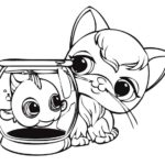 funny and cute littlest pet shop coloring sheet for kids