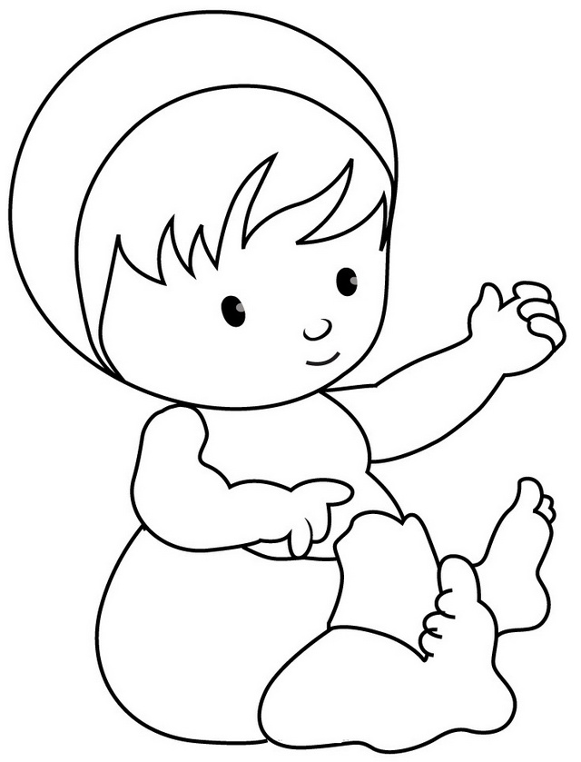 funny baby learning to sit coloring pages for kids