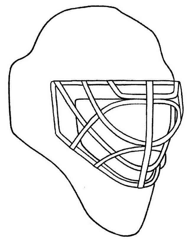 hockey helmet coloring and drawing line art sheet