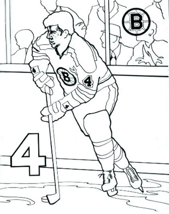 hockey player team bruins coloring pages