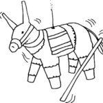 horse piñata Hudson Horstachio Coloring Sheet