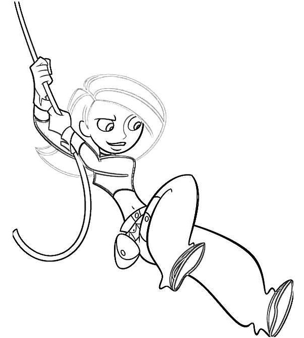 6 Ultimate Kim Possible Coloring Pages for Girls Coloring Pages