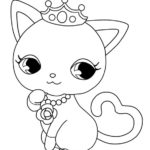 kitten Jewelpet coloring sheet for girls