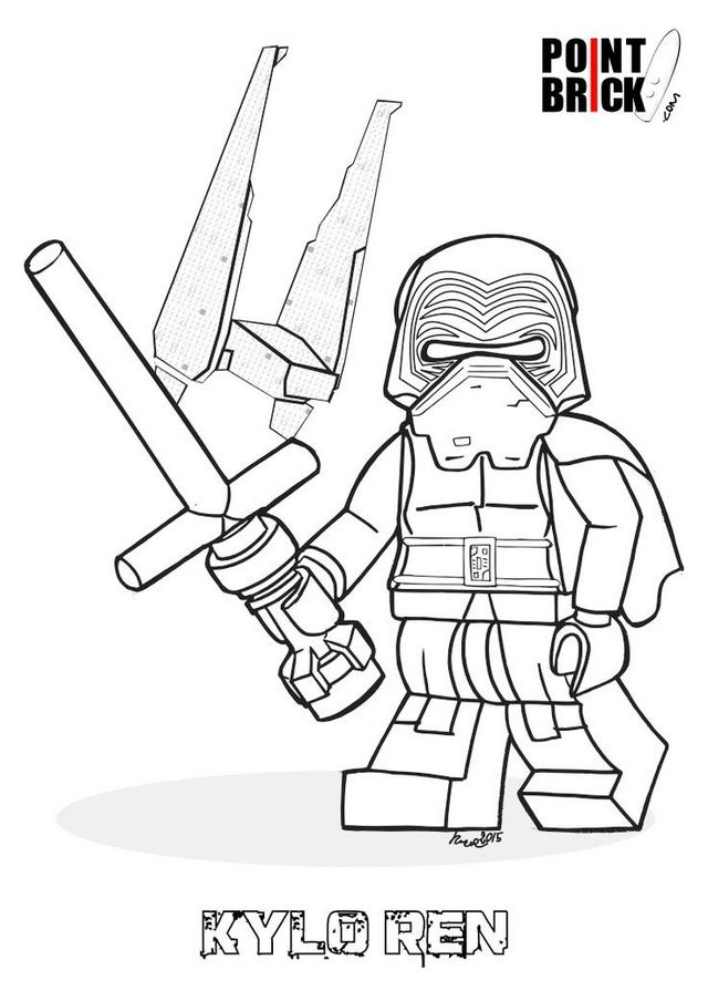 lego kylo ren coloring sheet for star wars fans