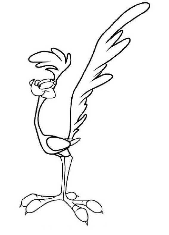 looney tunes road runner character coloring sheet