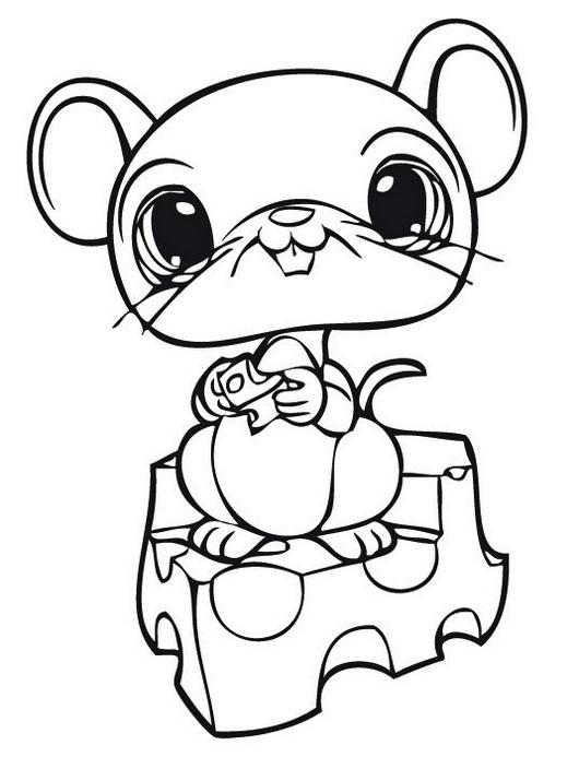 mouse littlest pet shop coloring sheet