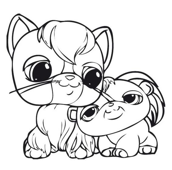 perfect littlest pet shop coloring sheet online