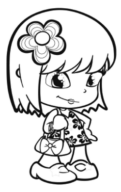 pinypon figure coloring picture