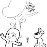 pocoyo cartoon coloring sheet for kids