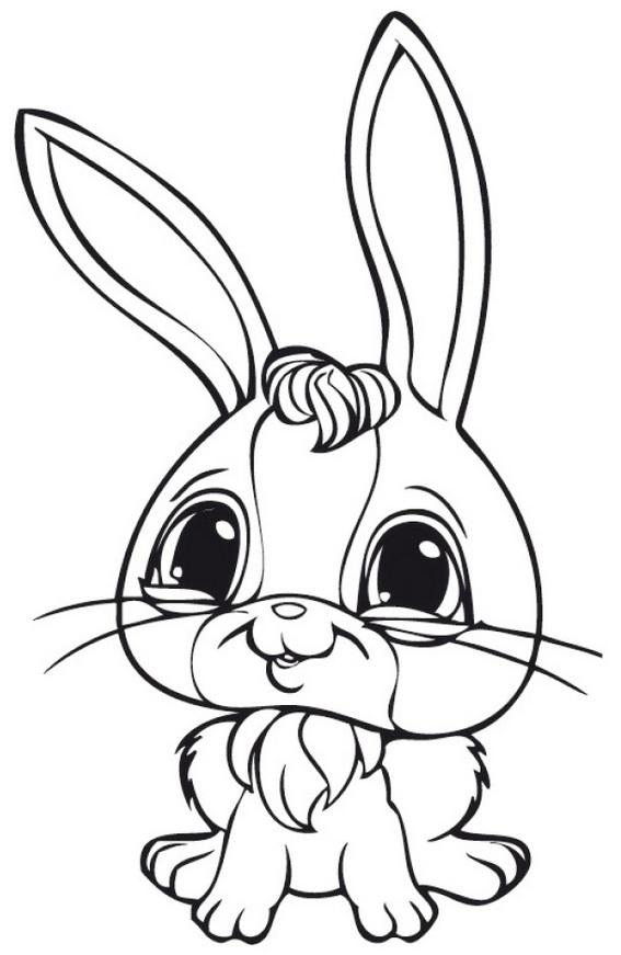 rabbit littlest pet shop coloring pages online for preschool children
