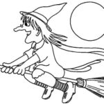 realistic witch coloring pages