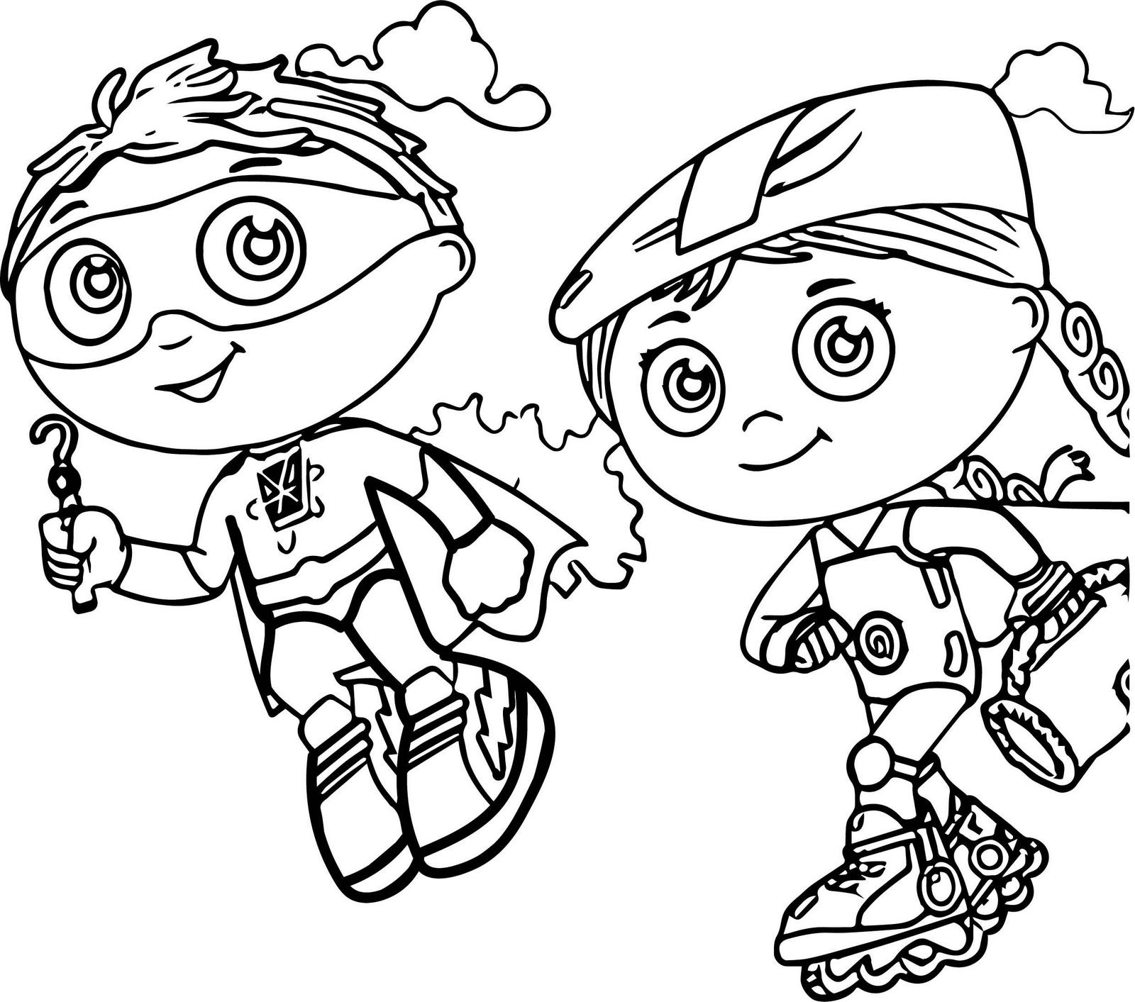 Super why coloring pages wonder red ~ super why and wonder red coloring sheet