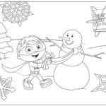 superwhy and snowman coloring picture