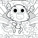 the amazing world of Gumball coloring page