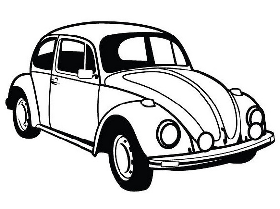 volkswagen beetle brand coloring sheet