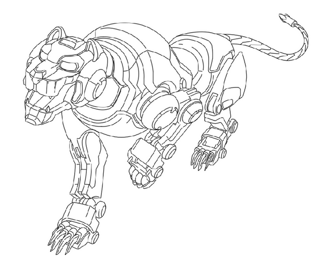 Voltron Legendary Defender In Coloring Pages: Voltron Legendary Red Lion Coloring And Drawing Page