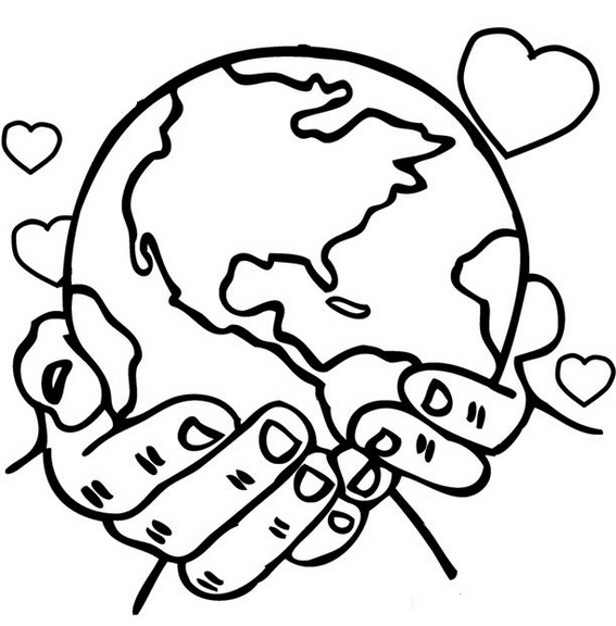 world in your hands coloring pages