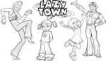 LazyTown Coloring Pages to Get Your Kids Learn a Healthy Lifestyle