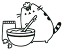 Oh-so-cute Kitty Pusheen the Cat Coloring Pages for Girls