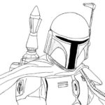 Boba Fett Coloring Sheets for Star Wars fans