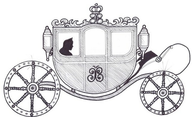 Carriage line art Coloring Sheet for your princess