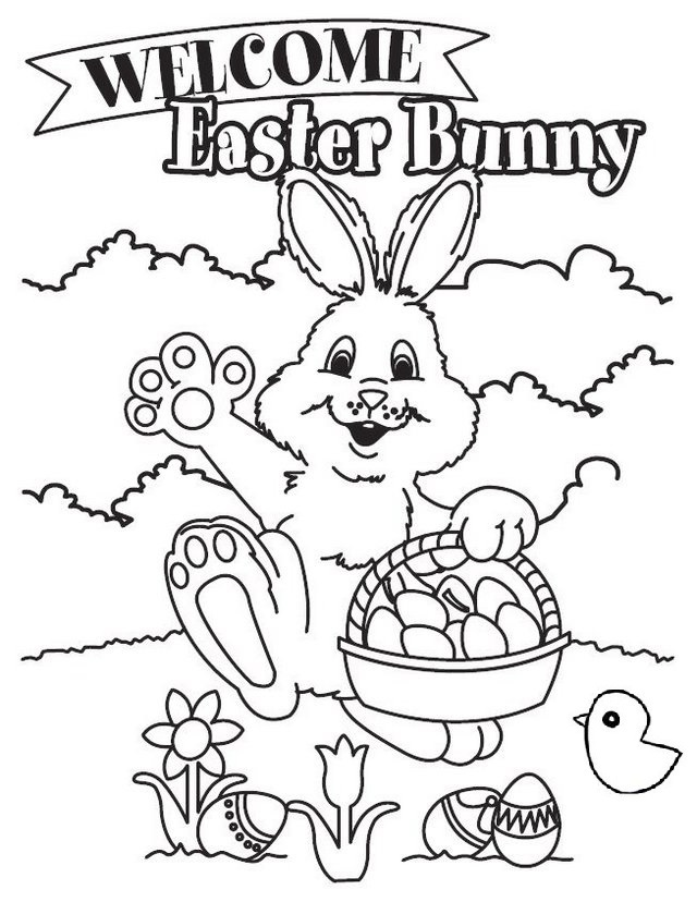 Charming Easter Bunny Coloring Pages