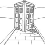 Doctor Who tardis colouring pages