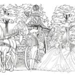 Elegant Cinderella Carriage Coloring Picture