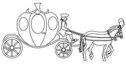 Enchanting Pumpkin Cinderella Carriage Coloring Picture