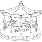 Epic Carousel Coloring Sheet merry go round picture